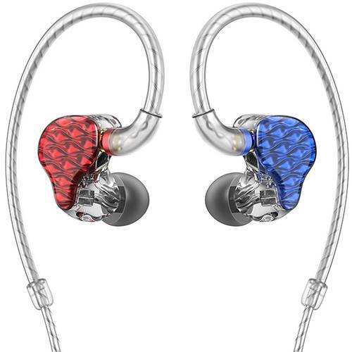 FiiO FA7 Quad Driver Balanced Armature In-Ear Monitors - Rot/Blau