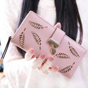 bellflowers Leaf Cutout Wallet