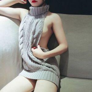 Momilove Reversible Turtleneck Knit Sweater