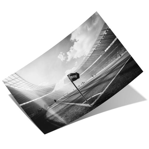 Poster Eckfahne schwarz/weiß