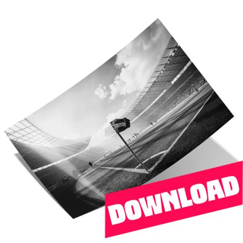 Hertha Poster Eckfahne schwarz/weiß Download