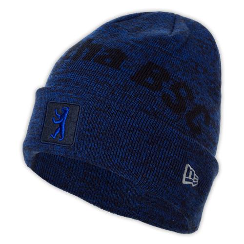 Mütze Bär blau-melange
