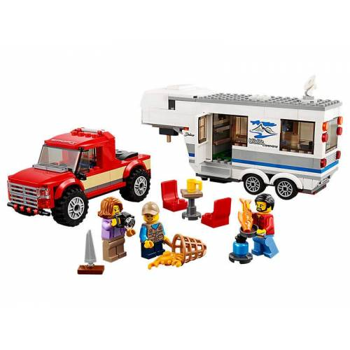 Lego Pickup & Wohnwagen