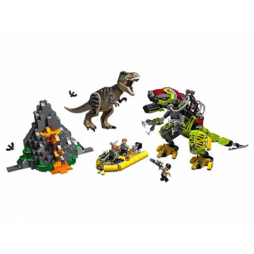 Lego T. Rex vs. Dino-Mech