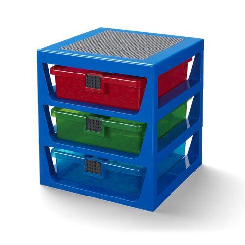 Lego Regalsystem in transparentem Blau