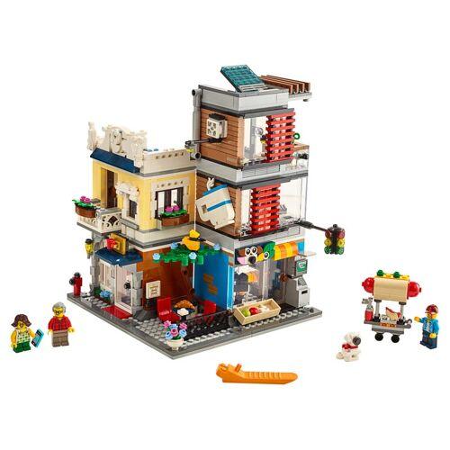 Lego Stadthaus mit Zoohandlung & Café