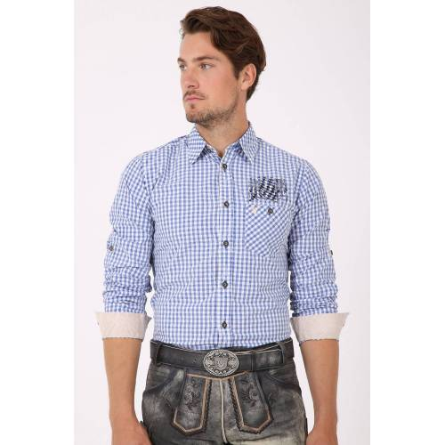 Krüger Trachtenhemd Bayern (blau/weis blau male XS