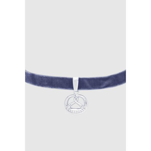 Krüger Choker-Halsband Brezen blau female 38
