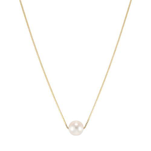 VALMANO Pearls Halskette aus 375 Gold mit Süßwasser-Zuchtperle   Perle 8-9 mm
