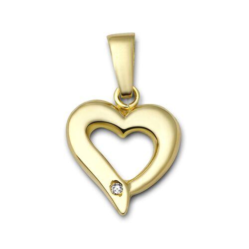 VALERIA Kettenanhänger aus 375 Gold mit Diamant