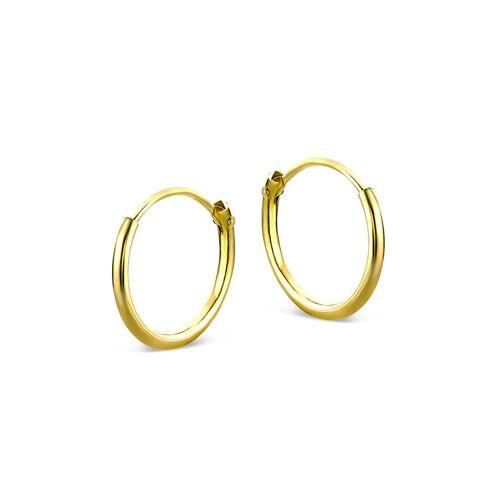 VALERIA Creolen aus 333 Gold   Durchmesser 11mm   Stärke 1,3mm