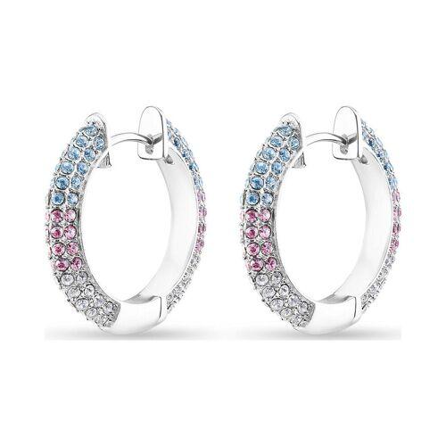 JETTE Damen-Creolen 925er Silber 64 Kristall