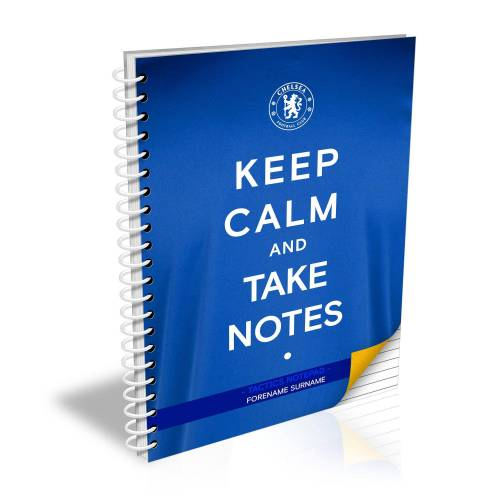"Ian Philipson Chelsea personalisiertes ""Keep Calm""-Notizbuch"
