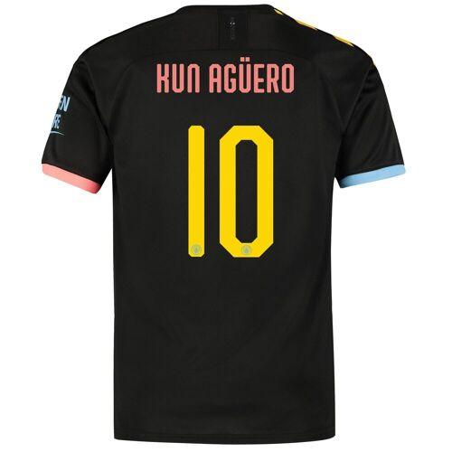 Puma Manchester City Cup Auswärtstrikot 2019-20 mit Aufdruck Kun Agüero 10