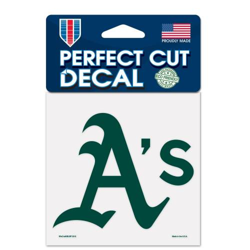 WinCraft Inc Oakland Athletics 4 x 4 Perfect Cut Decal-Aufkleber