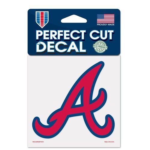 WinCraft Inc Atlanta Braves 4 x 4 Perfect Cut Decal-Aufkleber