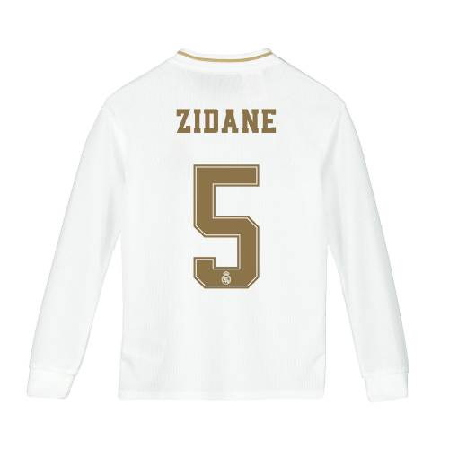 Adidas Real Madrid Adi Zero Heimtrikot 2019-20 - Langarm - Kids mit Aufdruck Zidane 5