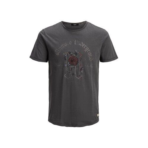 JACK & JONES Rosen Totenkopf T-shirt Herren Grau