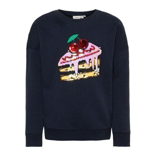 NAME IT Pailletten Sweatshirt Damen Blau
