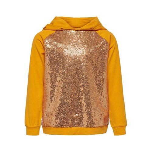 ONLY Pailletten Sweatshirt Damen Gelb