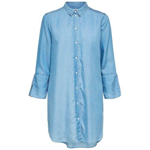 SELECTED Umweltfreundliches Blusenkleid Damen Blau