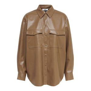 ONLY Oversize Hemd Damen Beige