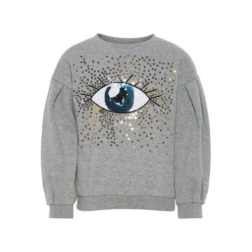 NAME IT Pailletten Sweatshirt Damen Grau