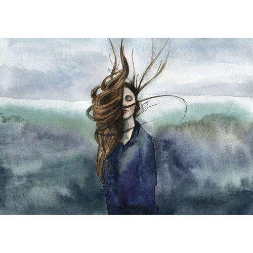 Dekoria Leinwandbild Wind, 100 × 70 cm