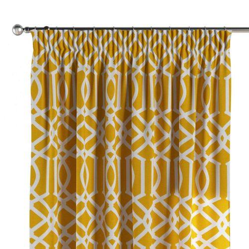 Dekoria Vorhang mit Kräuselband, gelb, 130 × 260 cm, Comics (135-09)