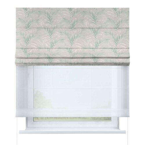 Dekoria Raffrollo Duo, weiß-grün, 130 × 170 cm, Gardenia (142-15)