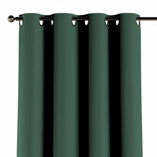 Dekoria Verdunklungsvorhang mit Ösen, grün, 1 Stck. 140 × 260 cm, Blackout (verdunkelnd) (269-18)