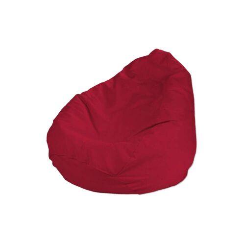 Dekoria Bezug für Sitzsack, rot, Bezug für Sitzsack Ø60 × 105 cm, Cotton Panama (702-04)