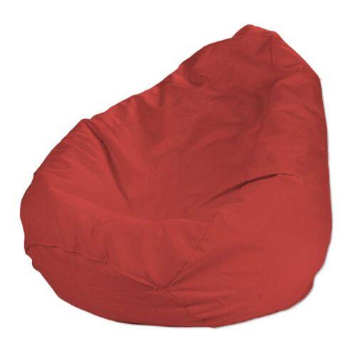 Dekoria Bezug für Sitzsack, rot, Bezug für Sitzsack Ø50 × 85 cm, Loneta (133-43)