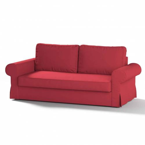 Dekoria Backabro 3-Sitzer Sofabezug ausklappbar, rot, Bezug für Backabro 3-Sitzer Sofa, Etna (705-60)