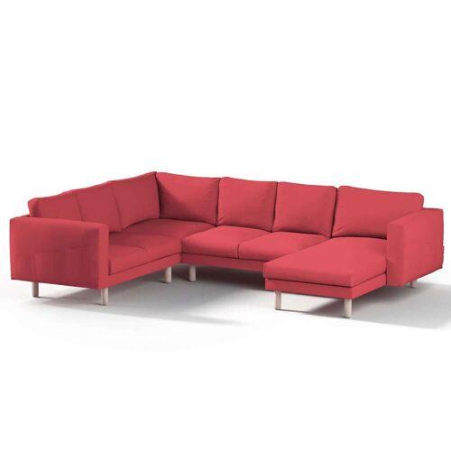 Dekoria Norsborg Bezug für 5-Sitzer Ecksofa mit Recamiere, rot, Norsborg Bezug für 5-Sitzer Ecksofa mit Recamiere, Etna (705-60)