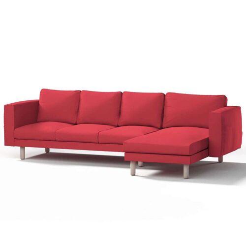 Dekoria Norsborg Bezug für 4-Sitzer Sofa mit Recamiere, rot, Norsborg Bezug für 4-Sitzer Sofa mit Recamiere, Etna (705-60)