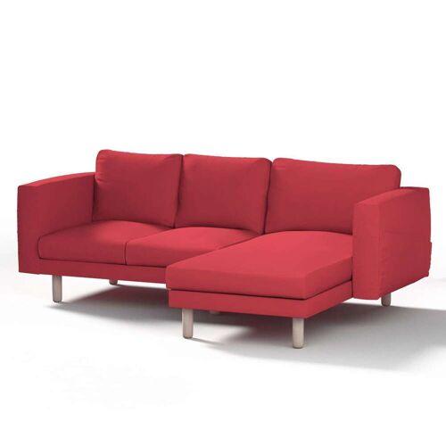 Dekoria Norsborg Bezug für 3-Sitzer Sofa mit Recamiere, rot, Norsborg Bezug für 3-Sitzer Sofa mit Recamiere, Etna (705-60)