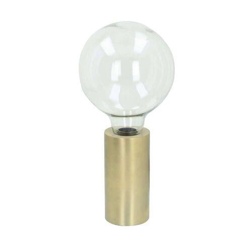 Dekoria Tischlampe Wiki gold 42cm, 18 × 18 × 42 cm