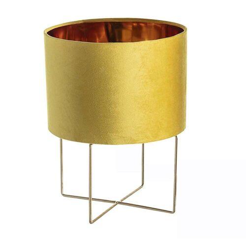 Dekoria Tischlampe Trixi Gold 37 cm, 28 x 37 cm