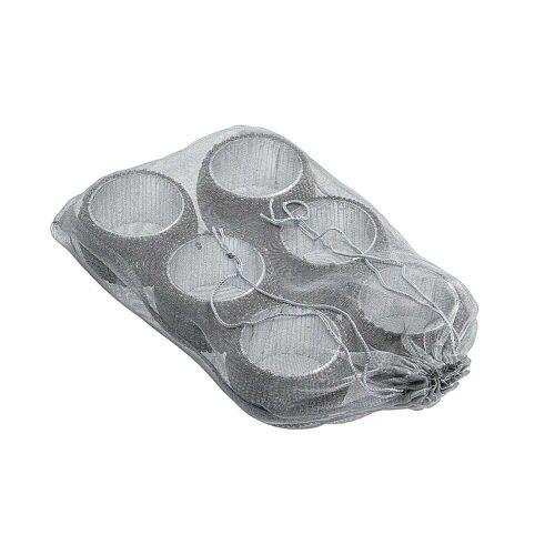 Dekoria Serviettenringe im Set Grey, 5,5 cm