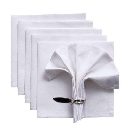 Dekoria Servietten Set 42x42 cm Jupiter weiß, 42 × 42 cm