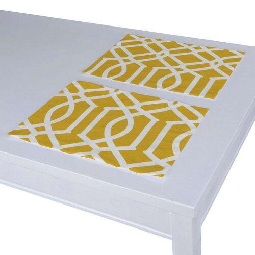 Dekoria Tischset 2 Stck., gelb, 30 × 40 cm, Comics (135-09)
