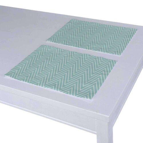 Dekoria Tischset 2 Stck., grün, 30 × 40 cm, Comics (137-90)