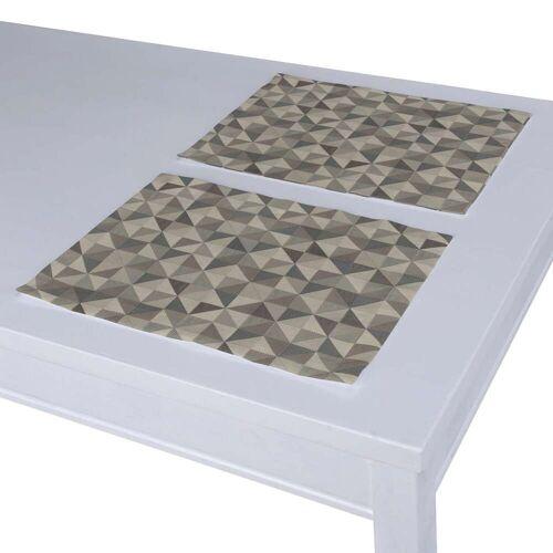 Dekoria Tischset 2 Stck., grau, 30 × 40 cm, Retro Glam (142-84)