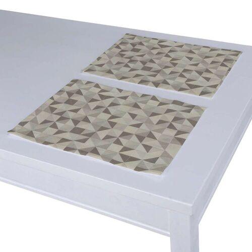 Dekoria Tischset 2 Stck., silbern-braun, 30 × 40 cm, Retro Glam (142-85)