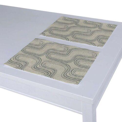 Dekoria Tischset 2 Stck., grau, 30 × 40 cm, Comics (143-14)