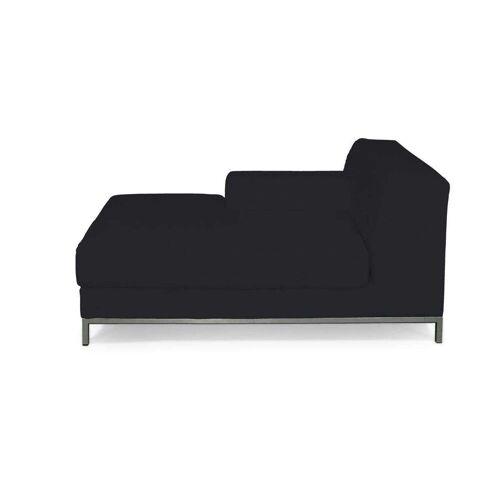 Dekoria Kramfors Recamiere links Sofabezug, schwarz, Bezug für Recamiere links Kramfors, Etna (705-00)
