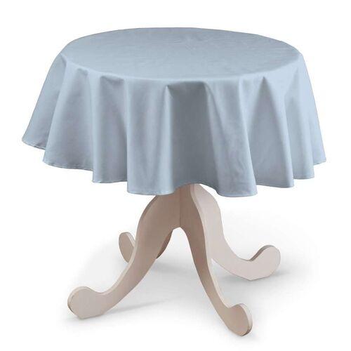 Dekoria Runde Tischdecke, hellblau, Ø 135 cm, Loneta (133-35)