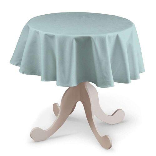 Dekoria Runde Tischdecke, hellblau, Ø 135 cm, Cotton Panama (702-10)