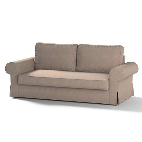 Dekoria Backabro 3-Sitzer Sofabezug ausklappbar, beige-grau, Bezug für Backabro 3-Sitzer Sofa, Etna (705-09)